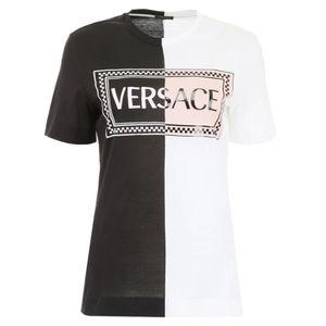 Versace Contrast Colour Logo T-Shirt
